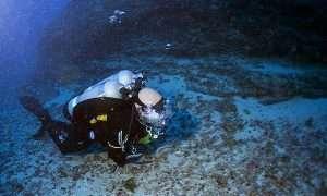 Tech Diver on the Deep Ledge